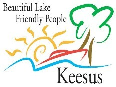 Keesus Logo - Beautiful Lake - Friendly People